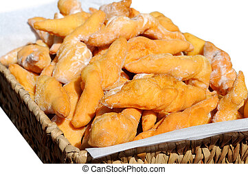 Closeup of delicious fritters with