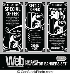 Special Offer Banner Set Vector. In the form of technical...