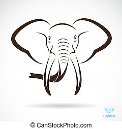 Vector image of an elephant head , illustration - vector