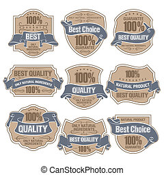 Best Quality Labels - Set of Best Quality Labels eps 10