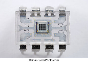 Microelectronics and chips - Close up stock pictures of the...