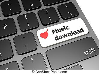 Music download - Rendered artwork with white background