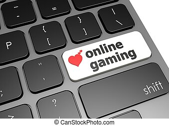 Online gaming - Rendered artwork with white background