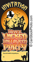 Halloween Party Invite Wicked - Halloween Party Invitation...