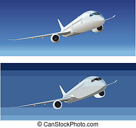 Boeing - 787 Dreamliner Available EPS-8 vector format...