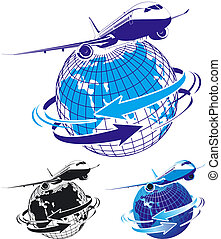 airliner as a logo Available EPS-8 vector format separated...