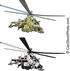 cartoon strike helicopter - cartoon russian strike...