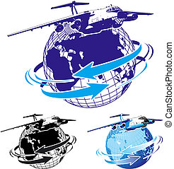 commercial freighter as a logo. Available EPS-8 vector...