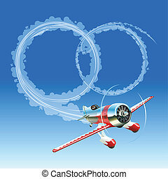 Plane sending wedding message Available EPS-8 vector format...