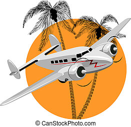 cartoon retro airplane. Available EPS-8 vector format...