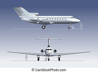 business-jet Available EPS-10 vector format separated by...