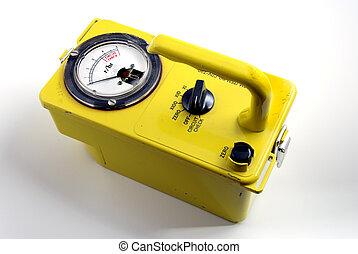 radioactivity - stock pictures of a geiger counter used to...
