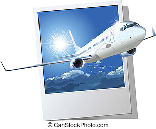 commercial airplane Available EPS-8 vector format separated...