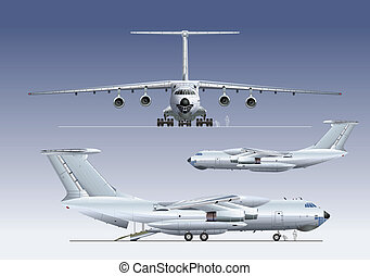 delivery/cargo airplane. Available EPS-8 vector format...