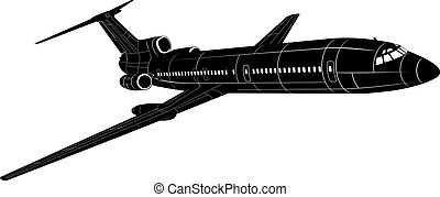 Passenger Jet silhouette Available EPS-8 vector format...