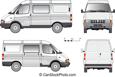 delivery van - Vector delivery cargo truck Available EPS-8...