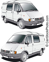 Vector delivery / cargo van. Available EPS-8 vector format...
