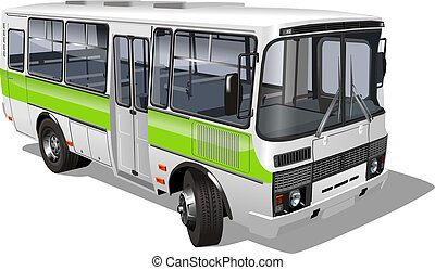 suburban passenger mini-bus. Available EPS-10 vector format...