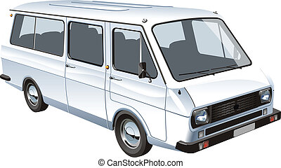 mini bus isolated. Available EPS-8 vector format separated...