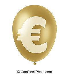 golden euro ballon
