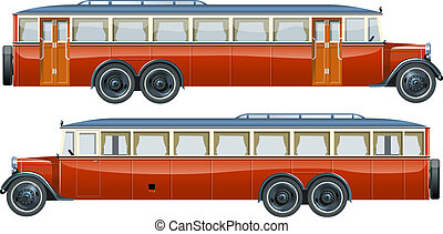 vintage bus liner Available EPS-10 vector format separated...