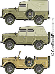 retro jeep set. Available EPS-8 vector format separated by...