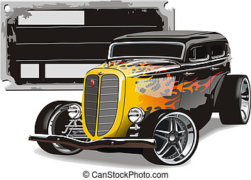 retro hotrod. Available EPS-10 vector format separated by...