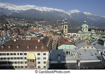 Austria, Tyrol - Austria, city scape with Golden Roof...