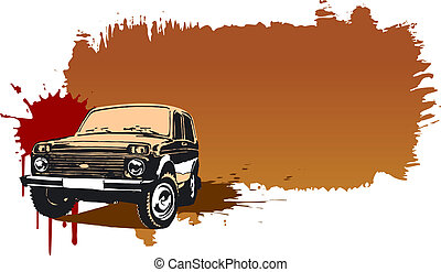 Off-road vehicle. Available EPS-8 vector format separated by...