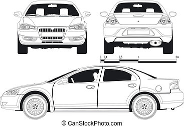 draft car - draft modern car. Available EPS-8 vector format...