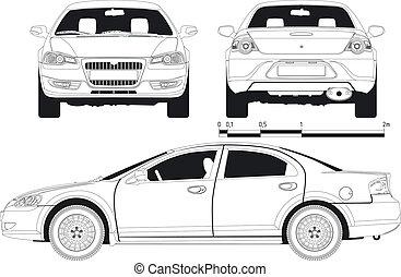 draft car - draft modern car. Available EPS-8 vector format...