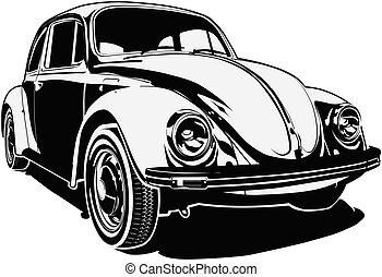 Retro Car - Rerto Car silhouette Available EPS-8 vector...