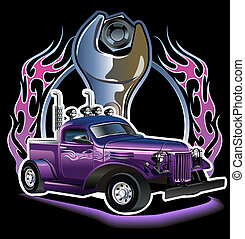 Retro hotrod - Retro hot rod. Available EPS-8 vector format...