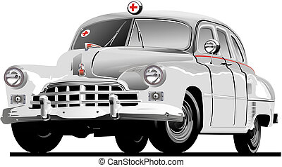 Retro Ambulance. Available EPS-10 vector format separated by...