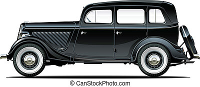 vintage car. Available EPS-8 vector format separated by...
