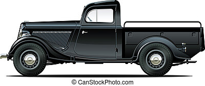 retro pickup Available EPS-8 vector format separated by...