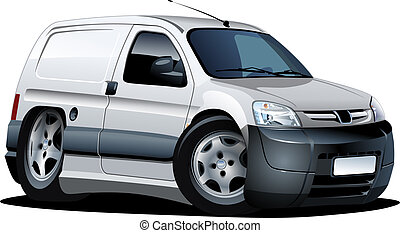 cartoon delivery van - Vector cartoon delivery van Available...