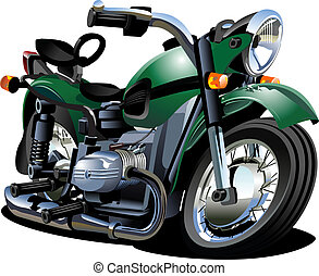 Vector Cartoon Motorcycle Available EPS-8 vector format...