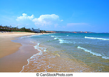 Pure sea in Mui ne bay, Vietnam - Mui ne is a famous bay...