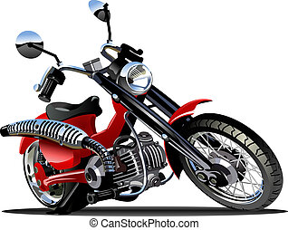 Vector Cartoon Motorcycle - Vector Cartoon Motorbike...