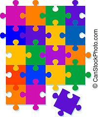 Jigsaw Pattern Background Design All pieces are seperate to...