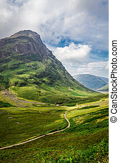 Footpath in in the Scotland highlands