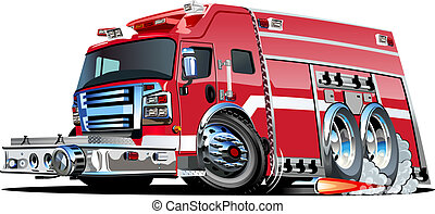 Vector Cartoon Fire Truck Available EPS-10 vector formats...