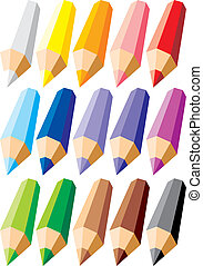set of colors crayons