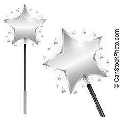Magic Wand - Magic wand on white background, vector eps10...