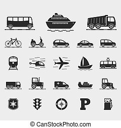 Transport Icons - Set of different transport icons, vector...