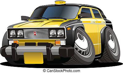 taxi, caricatura