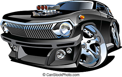 Cartoon retro hot rod isolated on white background Available...