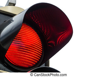 red light at traffic lights - a traffic light shows red...