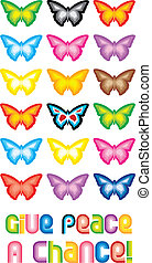Peace Butterfly Symbol - - One of a series of images...